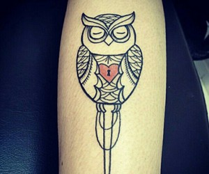tattoo, nature, and owl image