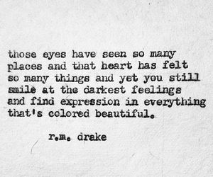 quote, r.m. drake, and beautiful image