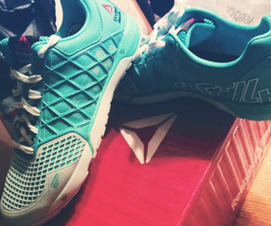 reebok, turquoise, and crossfit image