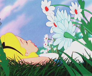 alice, alone, and flowers image