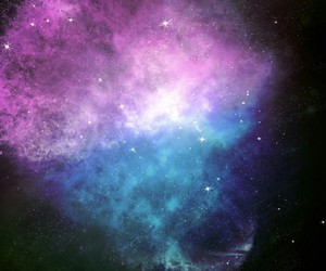 galaxy, blue, and space image