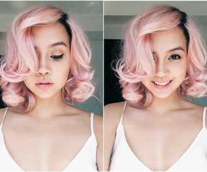 colorful, rainbow hair, and girly image