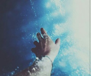 water, hand, and ocean image