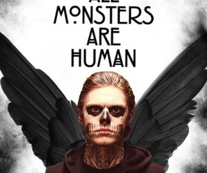 american horror story, monsters, and tate image