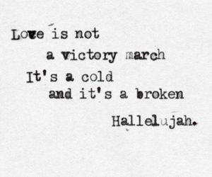 hallelujah, love, and quotes image