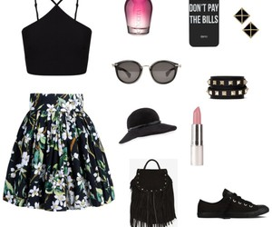 black, day, and outfit image