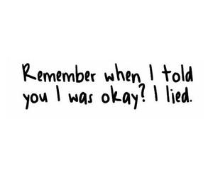 lies, sad, and depressed image