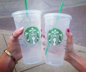 drinks, starbucks, and ice image