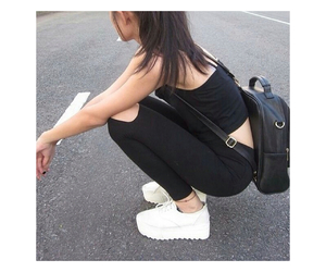 bag, hair, and shoes image