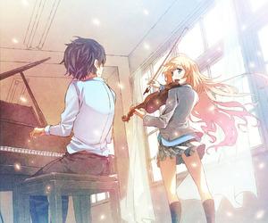 anime, shigatsu wa kimi no uso, and your lie in april image