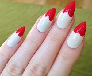 nails, heart, and nail polish image