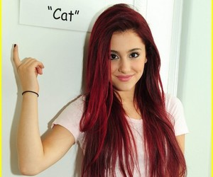 red and ariana grande image