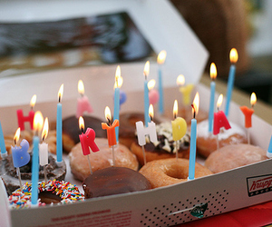 donuts, birthday, and food image