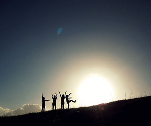 love, friends, and sun image