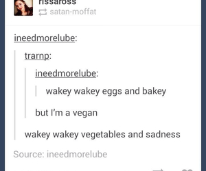 food, funny, and vegans image