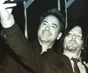 norman reedus, robert downey jr, and the walking dead image