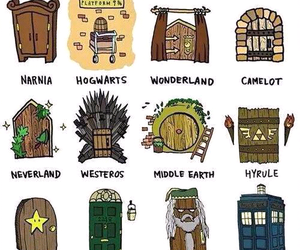narnia, harry potter, and hogwarts image