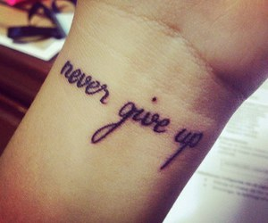 tattoo and never give up image
