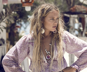 bohemian, hippie, and purple image