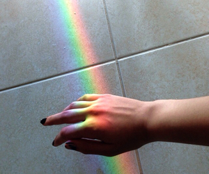 grunge, rainbow, and pale image