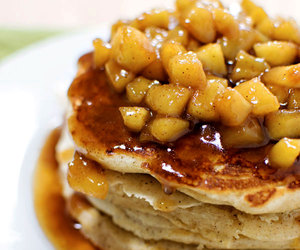 pancakes, yum, and apple image