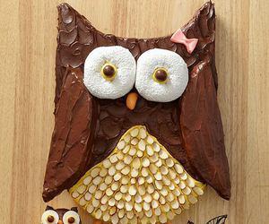 cake, owl, and food image