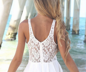 dress, summer, and white image