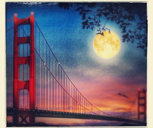 bay area, golden gate, and sunset image