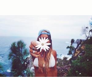 beach, boho, and flower image