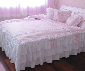 adorable, bedroom, and lace image