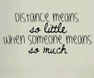 distance and love image