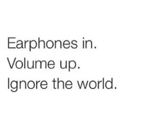 earphones, ignore, and music image