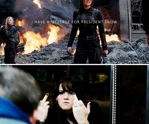 Jennifer Lawrence and katniss everdeen image