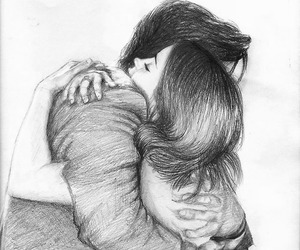 couple, draw, and drawing image