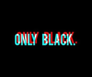 black and only image