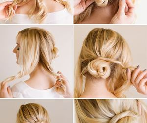 bun, hair styles, and tutorial image