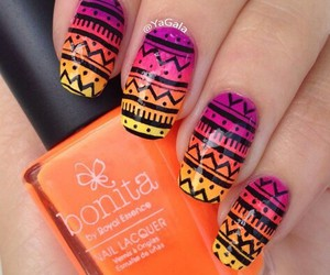 nails, orange, and colors image