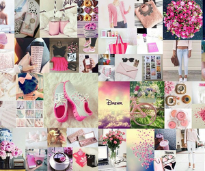 Collage and pink image