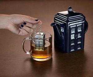 tea, doctor who, and tardis image