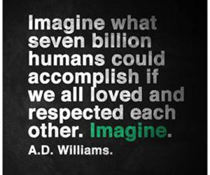 humans, imagine, and respect image