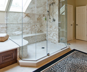 bathroom, luxury, and shower image