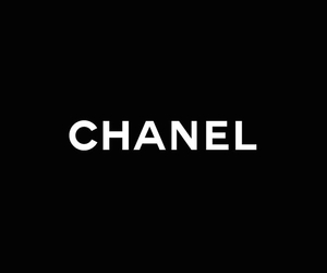 background, black and white, and chanel image