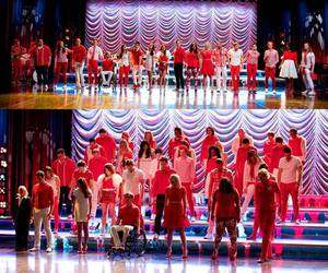 end, glee, and red image