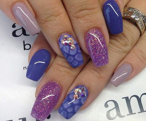 nails, nail art, and nail polish image