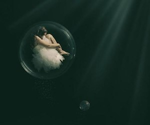 bublle, sleep, and underwater image