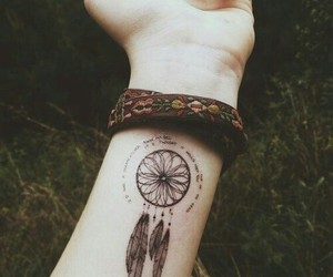 tattoo, dreamcatcher, and Dream image