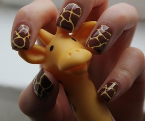 adorable, giraffe, and nails image