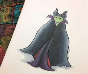 baymax, disney, and maleficent image