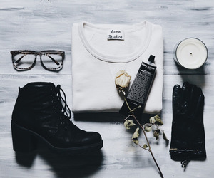 acne, indie, and all black image