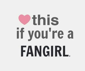 fangirl, heart, and fandom image